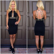 Luxor Studded Party Dress - BLACK