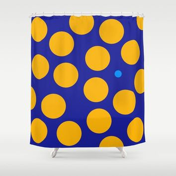 yellow dots Shower Curtain by netzauge