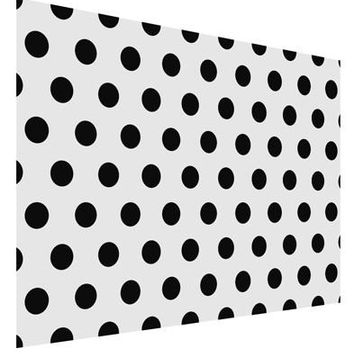 Black Polka Dots on White Matte Poster Print Landscape - Choose Size by TooLoud