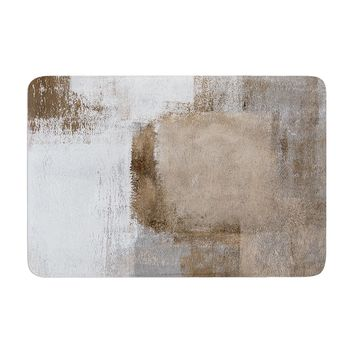 "CarolLynn Tice ""Calm and Neutral""  Memory Foam Bath Mat - Outlet Item"