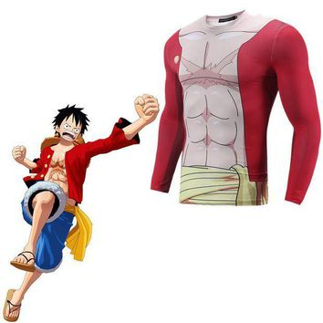 CREY6F ONE PIECE Monkey D Luffy Cosplay Costume 3D Print T-shirt Japanese Anime 3D Printed T-shirt  Clothes