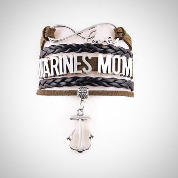 Love Marines Mom Bracelet - Black
