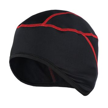 2017 New Outdoor Sport Thermal Fleece Beanie Hat Cap Head Scarf Hiking Climbing Running Skiing Bike Bicycle Cycling Helmet Liner