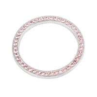 Car Decorative Pink Rhinestones Accent Key Ring Lgnition Coil Stickers