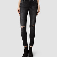 Womens Mast/Slashed Grey (Mid Grey) | ALLSAINTS.com