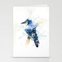Blue Jay Stationery Cards by hannahclairehughes