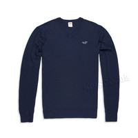 Hollister Sweater V Neck Navy Blue Pullover