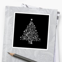 'Silver Christmas Tree' Sticker by Dizzydot