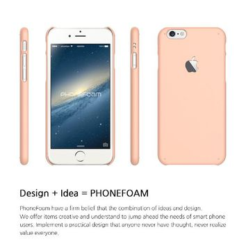 Iphone 6 Case (4.7) Phonefoam® Sugar Pastel Series Simple Hard Case - Retail Packing (Pastel Pink)