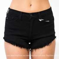 L.A Black Frayed Shorts