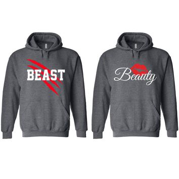 New Beast and Beauty Charcoal Hoodie