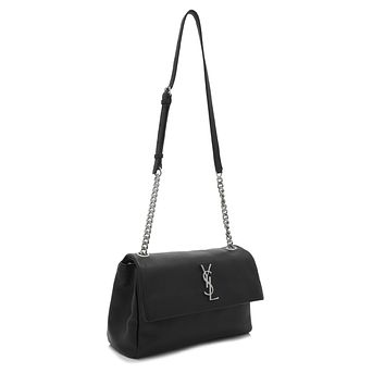 Saint Laurent Classic Monogramme Medium West Hollywood Bag Black Leather 471487