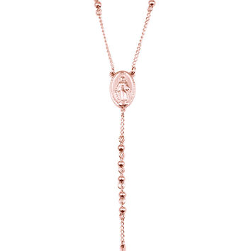 *Mister Rosary Necklace - Rose Gold