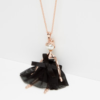 Ballerina necklace - Rose Gold | Jewellery | Ted Baker ROW