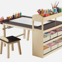 Fully Equipped Drawing Table for Kids – Deluxe Art Center Table | Home, Building, Furniture and Interior Design Ideas