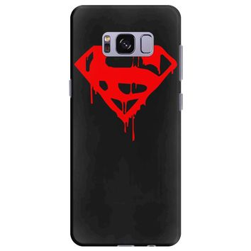dripping blood superman Samsung Galaxy S8 Plus