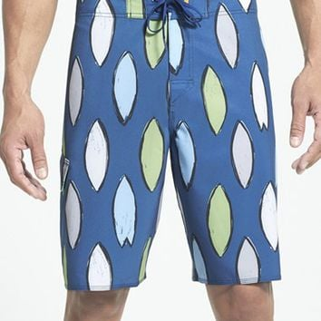 Men's Quiksilver Waterman Collection 'Shape Shifter' Print Board Shorts,