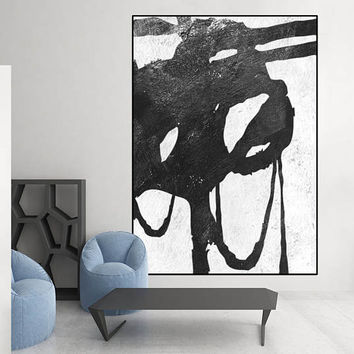 large art ,black and white canvas painting,  large Acrylic painting, original painting, canvas art,  acrylic painting, Contemporary Painting