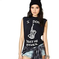 I Don't Trust Me Either Punk Sleeveless Shirt