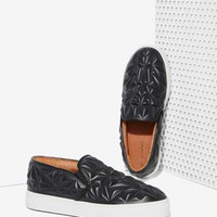 Jeffrey Campbell Sarlo 3D Leather Slip-On Sneaker