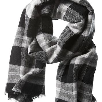 Banana Republic Reese Plaid Scarf Size One Size - Black