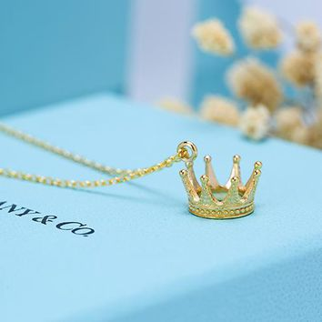 Tiffany Top Jewelry Princess Crown Pendant S925