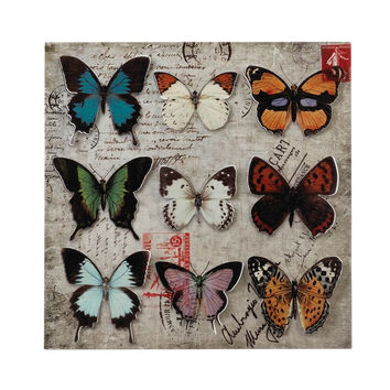 Butterfly Collage 3-D Wall Art