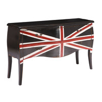 Union Jack Large Cabinet Distressed Black