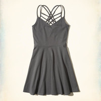 Girls Strappy Knit Skater Dress | Girls New Arrivals | HollisterCo.com