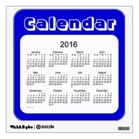 2016 Denim Blue Calendar by Janz Wall Decal
