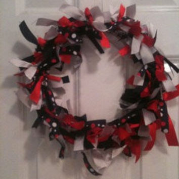SALE Georgia Bulldog Ribbon Wreath - Go Dawgs