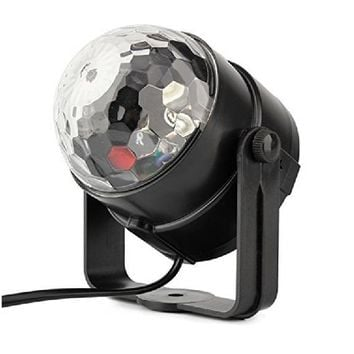 5W Disco Ball Party Lights Sound Activated Stage Light Show for Parties, US Port