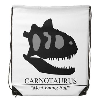 Carnotaurus Skull Drawstring Backpack