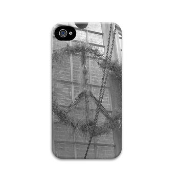 Peace Sign Black and White iphone 5 case, hippie, Beatles, peace symbol, unique iphone 4 case