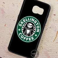 Skellington Starbuck Coffee Art - Samsung Galaxy S7 S6 S5 Note 7 Cases & Covers