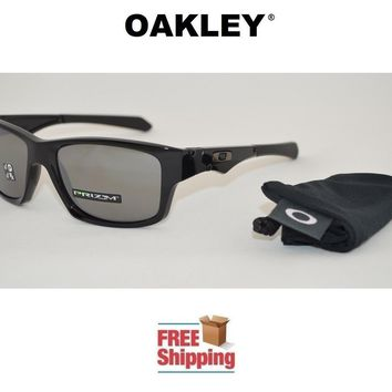 OAKLEY® SUNGLASSES JUPITER SQUARED™ PRIZM™ POLARIZED POLISHED BLACK W/ MIRROR