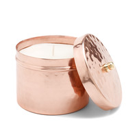 Large Hammered Copper Candle