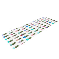 "Monika Strigel ""Pineapple People"" White Multicolor Yoga Mat"