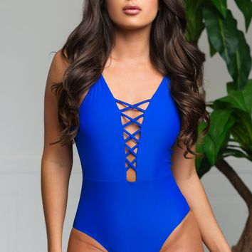 Infinite Cove One Piece Swimsuit - Royal Blue