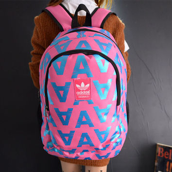 """Adidas"" Multicolor Letter Lightweight Shoulder Bag Travel Daypack School Backpack"