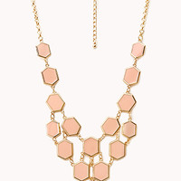 FOREVER 21 Lacquered Beehive Bib Necklace