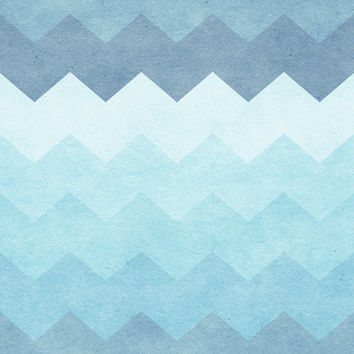 Chevron Waves Removable Wallpaper
