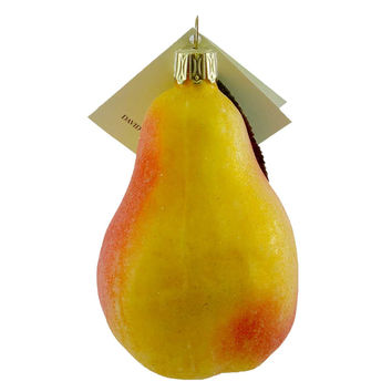 David Strand Designs Pear Glass Ornament