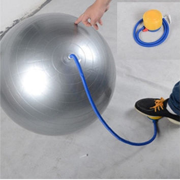 Portable specials Foot Air pump for yoga ball pilates exercise gym fitness balloon inflator (Color: Yellow) [8069652103]