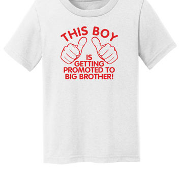 Big brother shirt - This boy is getting promoted to big brother t-shirt. T-shirt for boys pregnancy announcement - Red Design