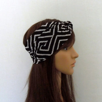Black/White Chevron Turban