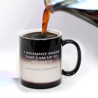 Harry Potter I Solemnly Swear...Mischief Managed Heat Transforming Mug - July 31st Shipment | HarryPotterShop.com