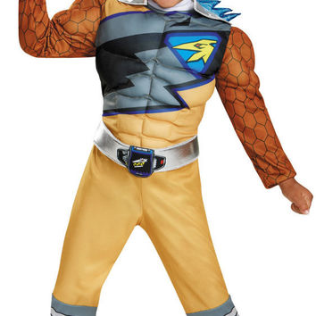 Power Rangers Dino Charge: Gold Ranger Muscle Toddler Costume - Small (2T)