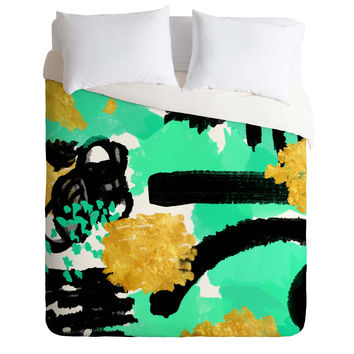 Rebecca Allen Dinner With Doris Day Duvet Cover