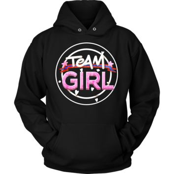 Team Girl Baby Shower Gender Reveal Pregnancy Hoodie